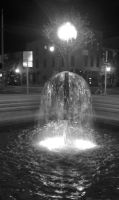 Water fountain downtain by capturedpoetry