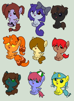 Foal Adoptables by Scribbles-Adopts