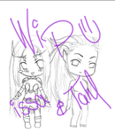 WoW - WIP - Issa and Tahl by Yamalie