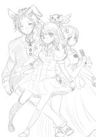 Random sketch_Fairy tail by sarylya
