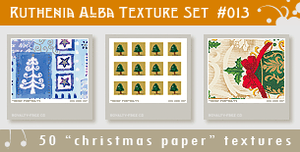 Texture Set 13: Xmas Paper 3 by Ruthenia-Alba