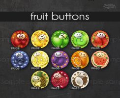 fruit buttons whole set by anikakinka