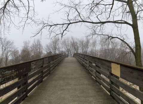 Foggy Bridge Stock by redwolf518stock