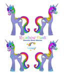 Rainbow Dusk Character Sheet - Sideview by LadyDuskfall