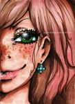 love your's freckles by LenivoeSozdanie