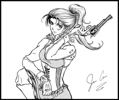 Gun Girl WIP by Jinny527
