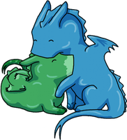 Green and Blue Love by Marvealle