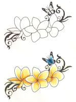 Freebies Tattoo Designs Frangipanies by TattooSavage