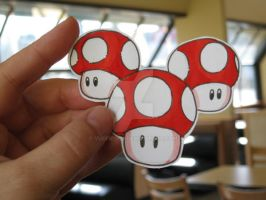 Triple Mushrooms :Paper Fugus: by Yuffie1972
