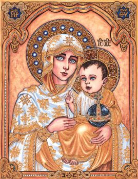 The Theotokos of Jerusalem by Theophilia