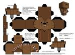 Chewbacca Template - Cubeecraft by Neibaf63