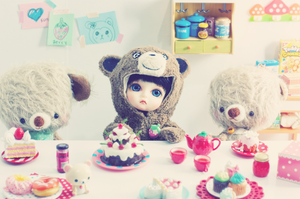 bears and sweets by cyristine