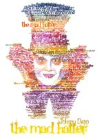 The Mad Hatter typo potrait by sweeteec