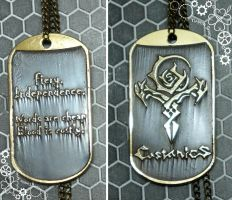 Castanic race dog tag TERA Arborea by TimforShade