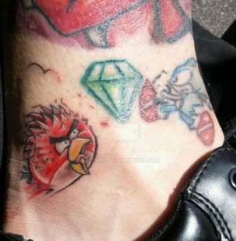 ANGRY BIRD TAT by RaiderP