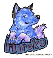 Badge for Miroku by neon-possum