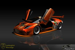 Orange Murcielago Revisited by ragingpixels