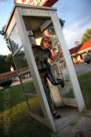 Phone booth by hallopino