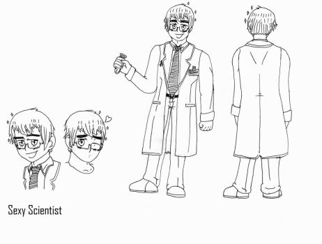 Sexy Scientist (uncolored) by finlandrussiaprussia