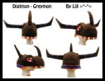 Digimon - Greymon Hat by LiliNeko