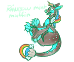 Candyroo Rainbow Mint Muffin by lalacat2000
