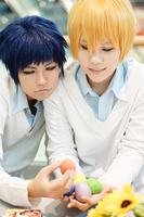 Aomine, Kise and eggs by PopoNyan