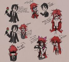 Grell and Sebastian- Bloopers by Kit-Ryu