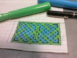 Simple knotwork sketch 1 by Larcivus