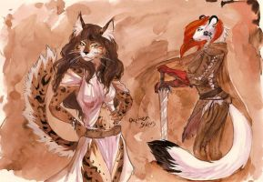 wildfairy-suane and TS-cat by Orphen-Sirius