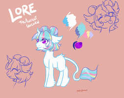 Lore ref. Sheet [paperstarwishes comm] by LavvytheJackalope