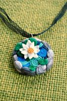 Lily pond necklace by Kurenai87
