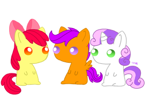 CMC's Chibi Ponies by Spice5400