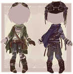 :Comm: outfits for MochaRa-t by BlackMayo