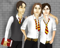 Moony, Padfoot, and Prongs by pieMASSACRE