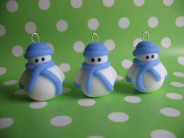 Snowman charms by fliepsiebieps