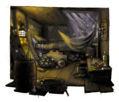 night pirate ship interior by JACKIEthePIRATE
