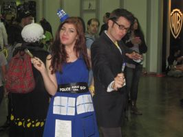 The 10th Doctor and TARDIS by Mechanox