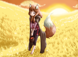 Field of Gold by WingedFoxHota
