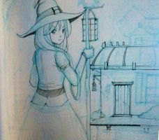 WIP_ Sketchbook study - Witch!!! by Yuuki-Tachi