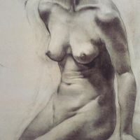 Female Nude Study by LindaEllell