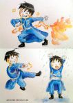 roy mustang chibis by rockinrobin