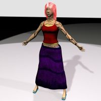 My first 3d character by Girilla