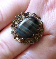 Blue Tiger's Eye Ring by cjgrand