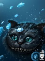 Cheshire Cat Underwater by ImaginateArtwork