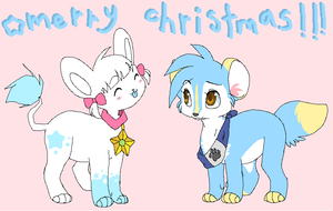 Merry XMas Apples and Pocky by drill-tail