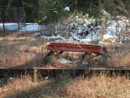 Red Wagon in the Snow Stock1 by dastotenkopf-stock