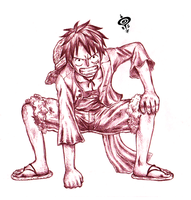 Luffy Sketch - Pirate Warriors by SPIRALCRIS
