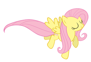 Flying Fluttershy vector by landBOOM