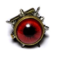 Steampunk Red Tie Tack Pin by CatherinetteRings
