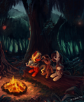 Commission 5 - Campfire by The-Keyblade-Pony
